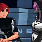 Mass Effect Cartoon - Tali by GHaskell
