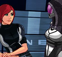 Mass Effect Cartoon - Tali by GHaskell