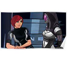 Mass Effect Cartoon - Tali Poster