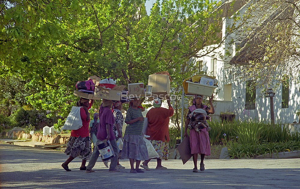 Tulbagh - busy locals - South Africa by Bev Pascoe