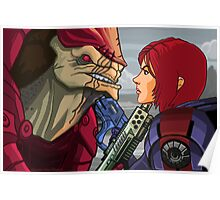 Mass Effect - Wrex vs. Shepard Poster