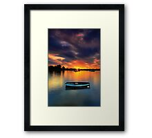 Floating Sunset # 2 Framed Print