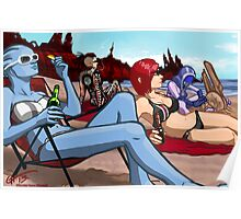 Mass Effect Cartoon - Ladies' Day Off Poster