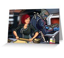 Mass Effect Cartoon - Cookie Time Greeting Card