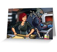 Mass Effect Cartoon - Cookie Time Greeting Card