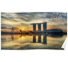 Saturday Sunrise - Marina Bay Sands Poster