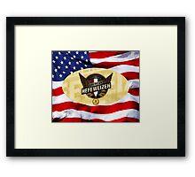 VINTAGE AMERICAN BEER. Framed Print