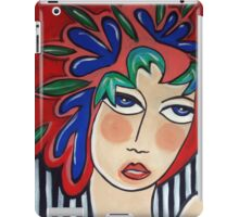 Floral headpiece iPad Case/Skin