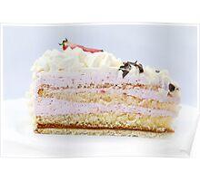 Strawberry Cream Cake Poster