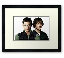 Early Sam & Dean Framed Print
