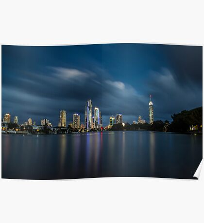 Surfers Paradise Twilight Poster