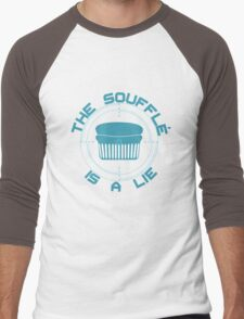 The Soufflé is a Lie Men's Baseball ¾ T-Shirt