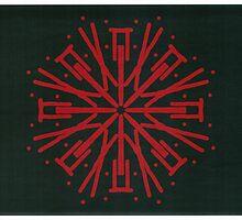 Red on black Picasso Kalaeidoscope by Jennifer Mosher