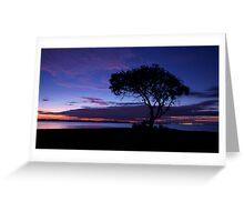 Solo Silhouette Sunset  Greeting Card