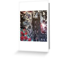 Death and roses at Whitby Abbey Greeting Card