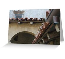 Roof detail, Mission, Santa Barbara Greeting Card