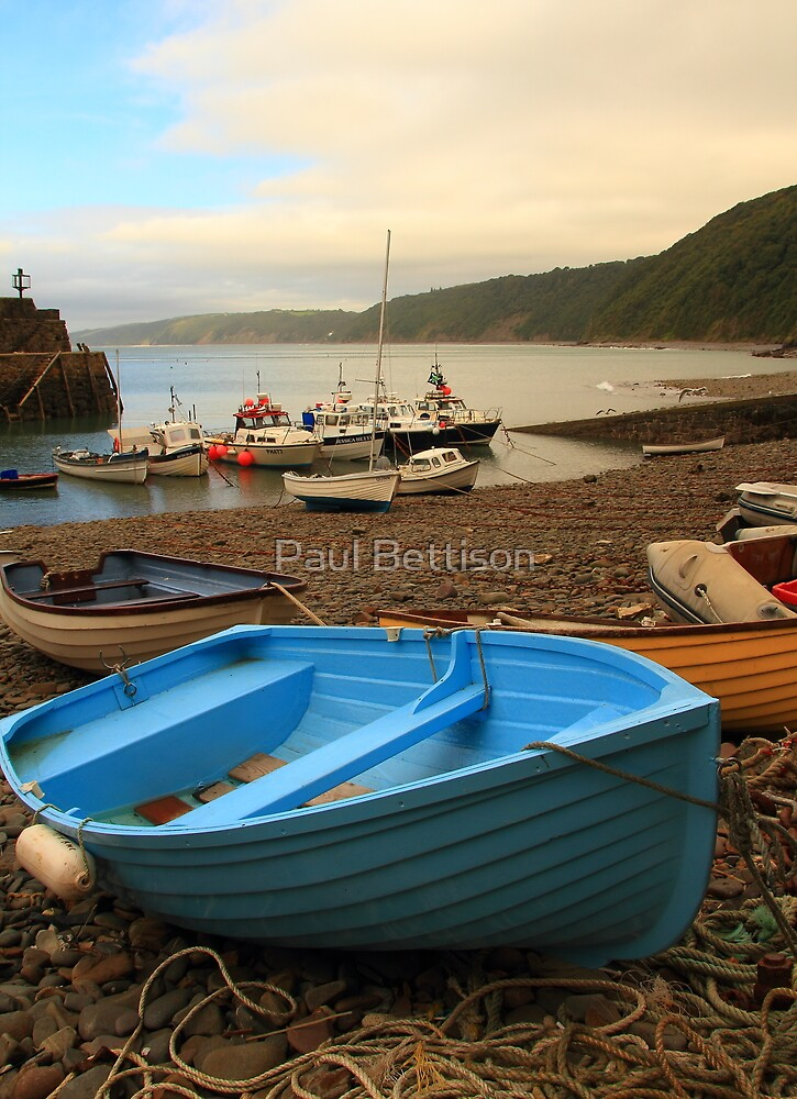 Blue boat at Clovelly by Paul Bettison