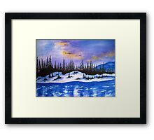 Canadian wilderness Framed Print