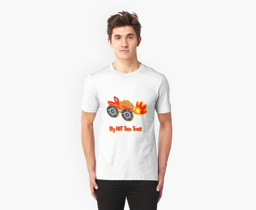 My HOT Toon Truck T-shirt by Dennis Melling