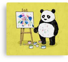 Pandas paint colorful pictures. Canvas Print