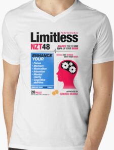 Limitless Pills - NZT 48 (2nd Version) Mens V-Neck T-Shirt