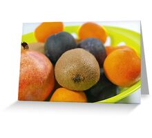 Plate of Fruits Greeting Card