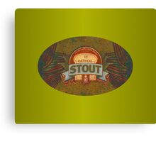 OATMEAL BEER LABEL Canvas Print