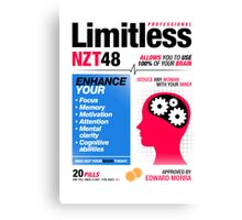 Limitless Pills - NZT 48 (2nd Version) Canvas Print