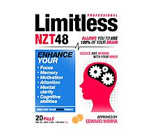 Limitless Pills - NZT 48 (2nd Version) Photographic Print