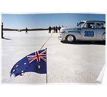 1954 FJ Holden on the salt Poster