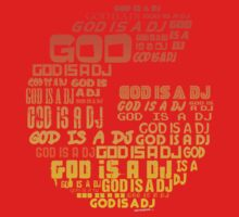 God is a DJ - Music Disc Jockey Kids Tee
