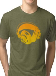 Graffiti Headphones Tri-blend T-Shirt