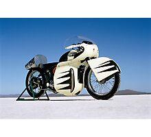 Triumph Thunderbird on the salt Photographic Print