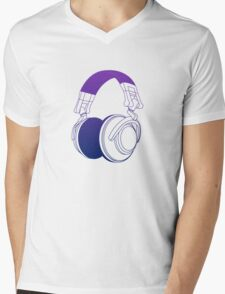 Vector Headphones Mens V-Neck T-Shirt