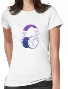 Vector Headphones Womens Fitted T-Shirt