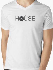House Vinyl Mens V-Neck T-Shirt
