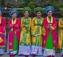 Vietnam. Hue. Ladies in National Costumes. by vadim19