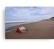 Furniture on the Beach Canvas Print