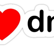 I Love DNB Sticker
