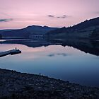 Ladybower Reservoir at Dusk by Angie Morton