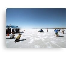 Ford Hot Rod on the salt 2 Canvas Print