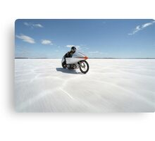 Suzuki Gt 750 at full throttle on the salt Canvas Print