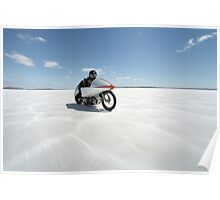 Suzuki Gt 750 at full throttle on the salt Poster