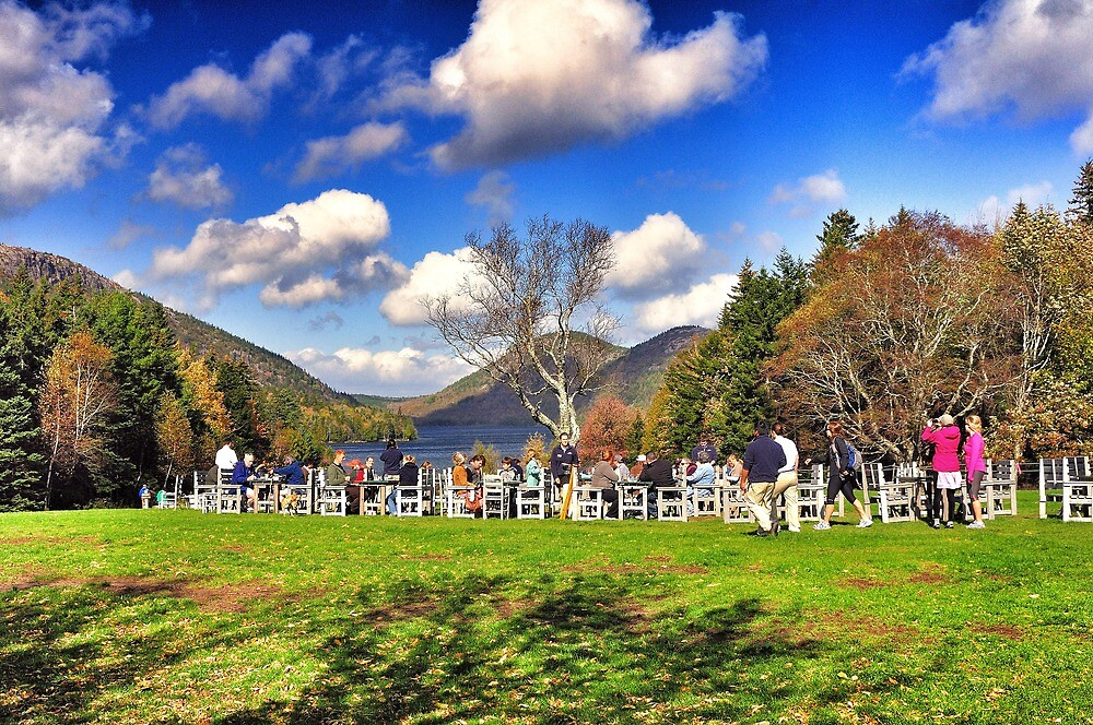 Jordan Pond Restaurant, Acadia National Park, Maine, USA by fauselr