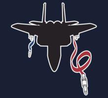 Jet Fighter Music Kids Tee