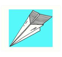 Old school paper plane Art Print