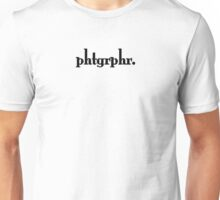 Photographers Represent in Minimum Way. Unisex T-Shirt