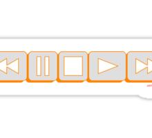 Play Pause Rewind Tape Sticker