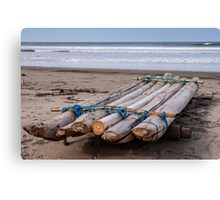 Fishing Raft - Playas, Ecuador Canvas Print