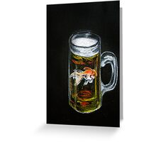 Golden Beer Greeting Card